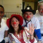 I volontari della Teniamoci per Mano Onlus nell'Ospedale Pertini