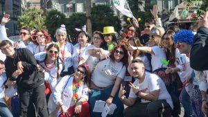 I volontari della clownterapia alla Festa del Sorriso