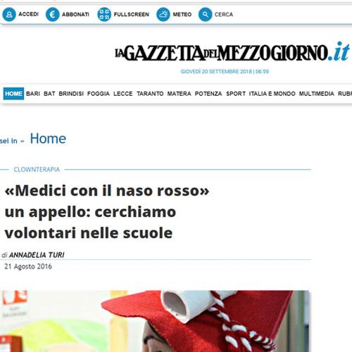 Articolo Medici con il naso rosso un appello cerchiamo volontari nelle scuole
